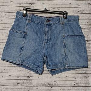 Tommy Hilfiger Jean Shorts SZ:12 large pockets